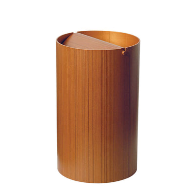 Waste Basket with Lid by Saito Wood
