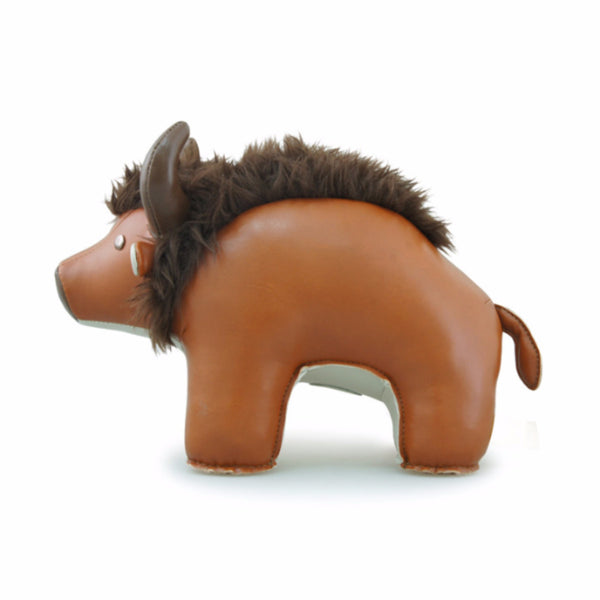 Bison the Steppe Bison Bookend by Zuny