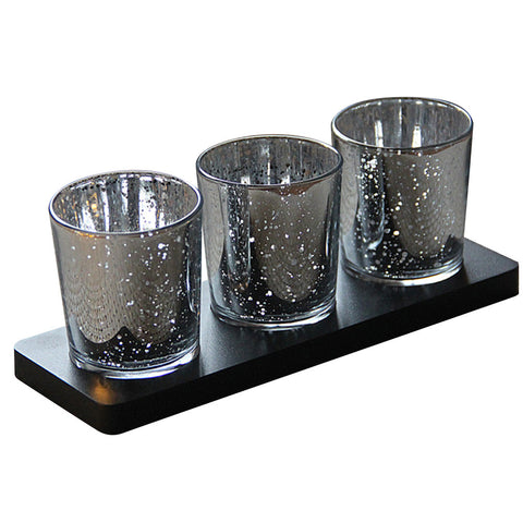 Mercury Glass Votive Candle Holder Tealight Candle Holders for Weddings Parties Home Restaurant Bar Decor