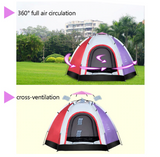 6 Person Outdoor Automatic Instant Tent Throwing Pop-Up Hiking Fishing Camping Beach Tent Set Waterproof Large Tents