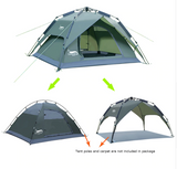 Desert&Fox Automatic Tent 3-4 Person Camping Tent,Easy Instant Setup Portable Backpacking for Sun Shelter,Travelling,Hiking