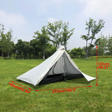 210T Outdoor 1 Person Pyramid Tent Rodless Backpacking Waterproof Lightweight Tents