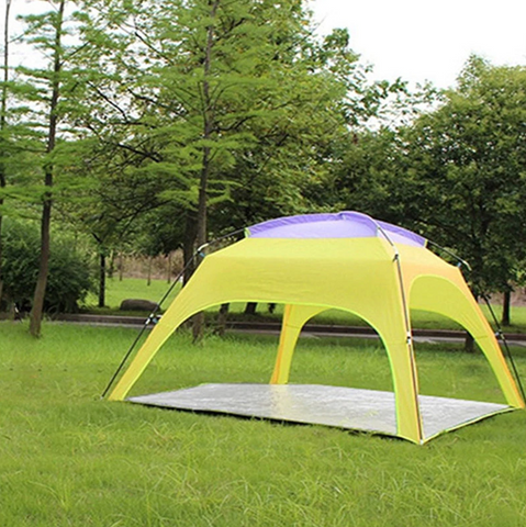 Outdoor Sun Shelter 3-4 Persons Camping Tent Automatic Opening Anti-UV Rainproof Sunshade Canopy With Bottom Mat