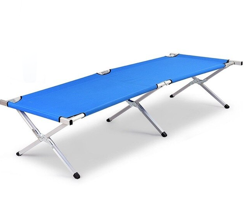 Aluminum Folding Camping Furniture Bed Outdoor Portable Military Cot Hiking Travel With Bag