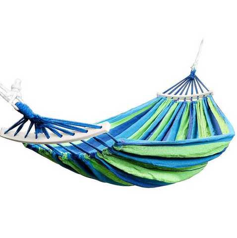 Double Hammock 450lbs Portable Travel Camping Hanging Hammock Swing Lazy Chair Canvas Hammocks