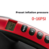 DC 12V Preset Inflation Pressure Electric Air Pump Inflate Deflate Pump With 6 Nozzles