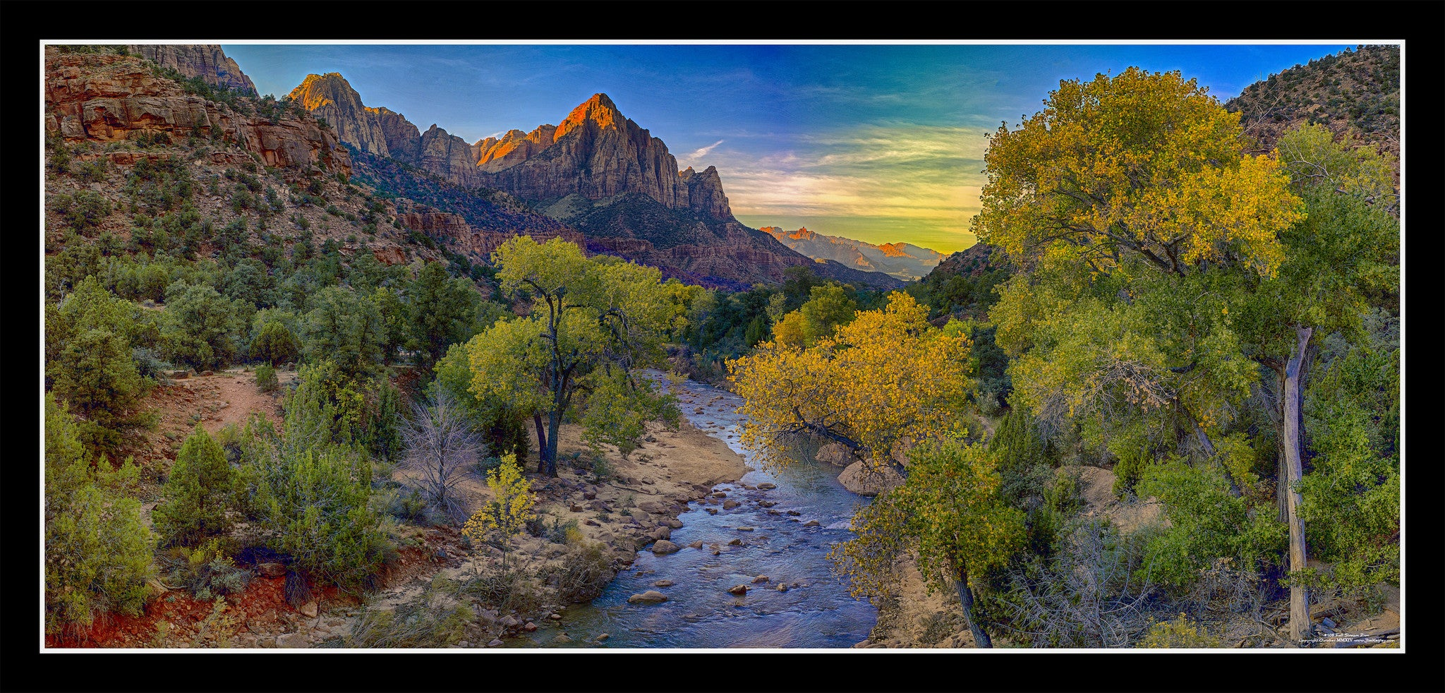 #108 Fall Stream in Zion Framed, UPC 84458521108