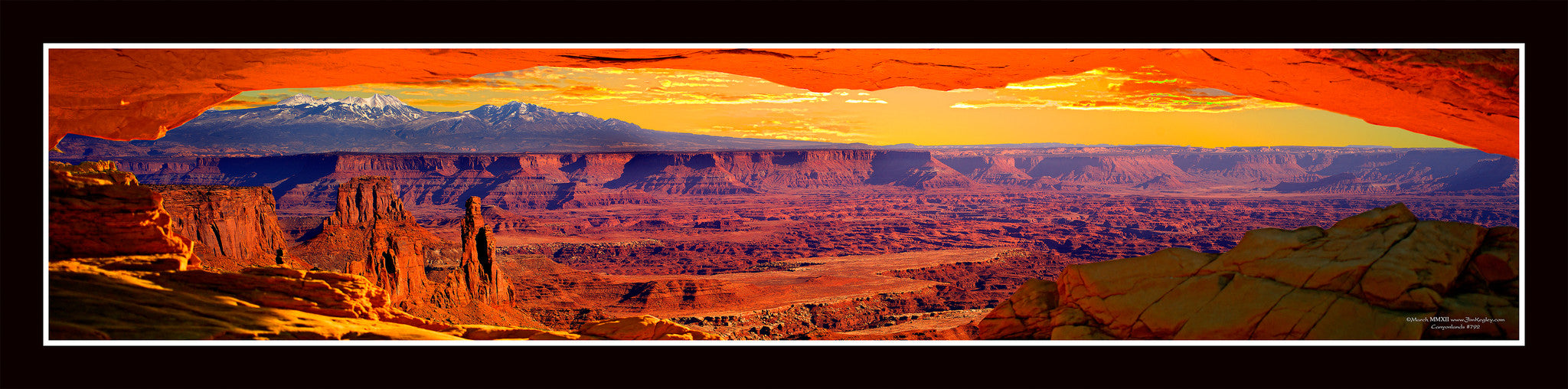 #792 Canyonlands Framed