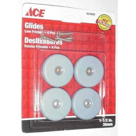 "Round Slide Glides 1 1/2"" 4pk - ATL Welding Supply"