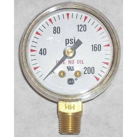 1 1/2 x 200 Oxygen Gauge - ATL Welding Supply