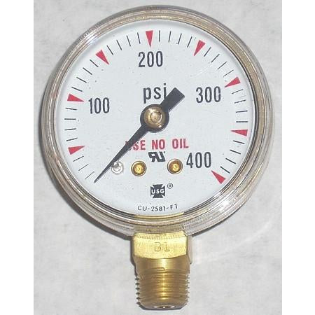 1 1/2 x 400 Acetylene Gauge - ATL Welding Supply