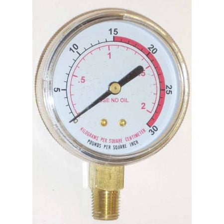2 1/2 inch Fuel Low Pressure Gauge - ATL Welding Supply