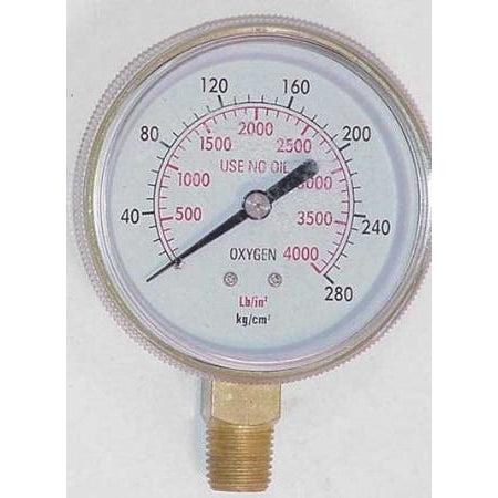 2 1/2 inch Oxygen High Pressure Gauge - ATL Welding Supply