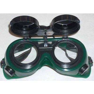 Green Welding Safety Goggles 50mm Round Flip Front Shade 5 - ATL Welding Supply