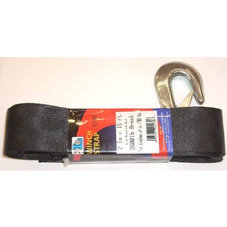 2 x 15  Winch Strap 2600 lbs Capacity