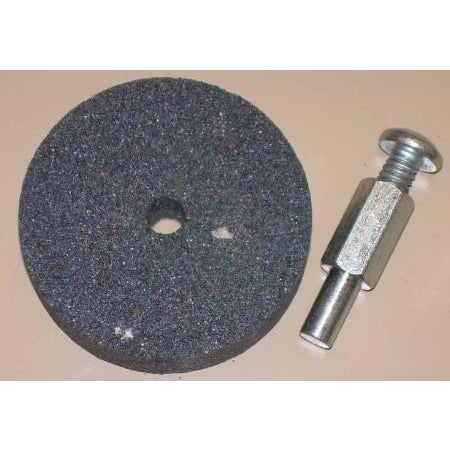 2 x 1/2 x 3/8 Round Drill Mounted Grinding Wheel