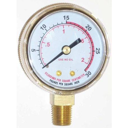 2 inch Fuel Low Pressure Gauge - ATL Welding Supply
