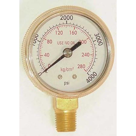 2 inch Oxygen High Pressure Gauge - ATL Welding Supply