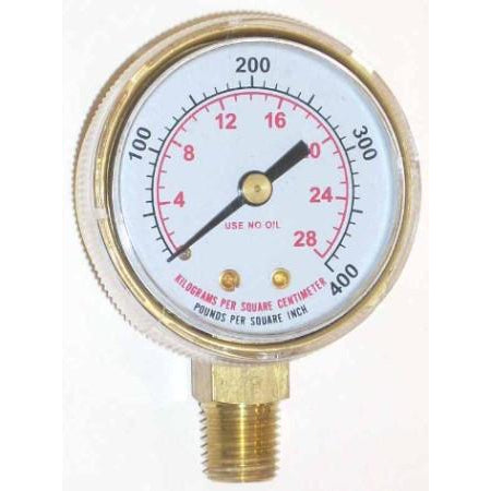 2 inch Fuel High Pressure Gauge - ATL Welding Supply