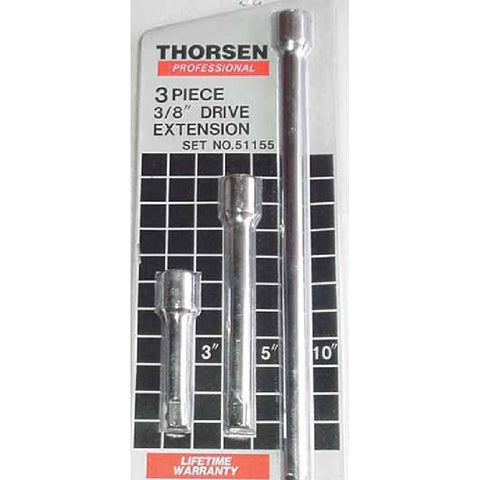 "Thorsen Tool 3/8"" Drive 3pc. Extension Set"