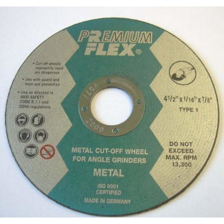 Premium Flex 4 1/2 x 1/16 x 7/8 (25 box) - ATL Welding Supply