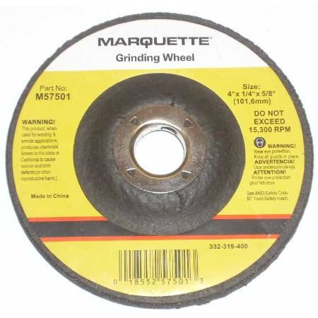 Marquette 4 x 1/4 x 5/8 Grinding Wheels 25/pk - ATL Welding Supply