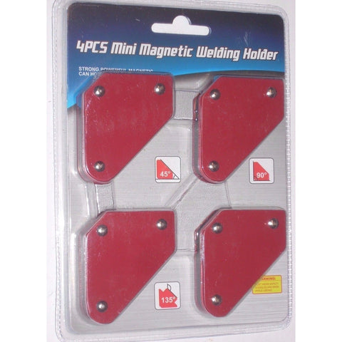 4pc Welding Arrow Magnet Set Mini Weld Holder Up to 9 LB at 45, 90 or 135 Deg - ATL Welding Supply
