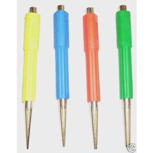 4 Piece Pin Punch Nail Set Rubber Grip