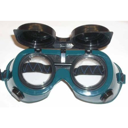 Premium Green Round Flip Up Welding Goggles