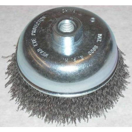Lincoln 5 x 5/8-11 Crimp Cup Brush - ATL Welding Supply