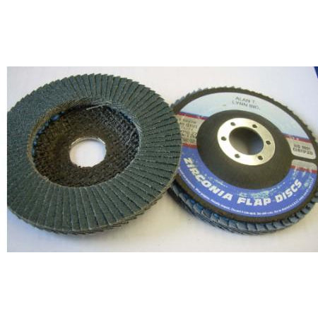 4 1/2 x 7/8 Zirconia Flap Wheels 60 Grit 10 PACK - ATL Welding Supply