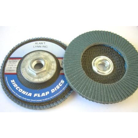 4 1/2 x 5/8-11 Zirconia Flap Wheels 80 Grit  10 Pack - ATL Welding Supply