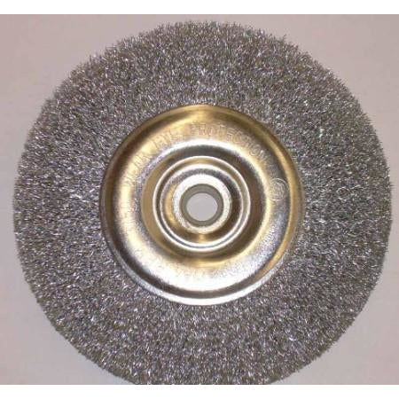 6 x 5/8-1/2 Crimped Wire Bench Brush Wheel - ATL Welding Supply
