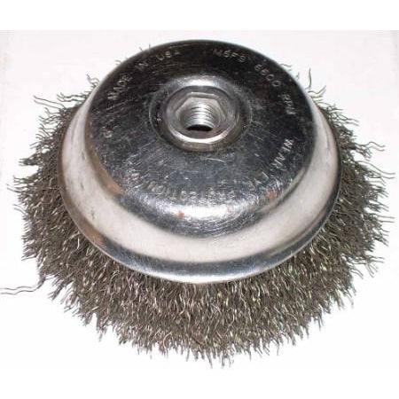 6 Wire Cup Brush | 6 X 5 8 11 Crimp Wire Cup Brush Atl Welding Supply
