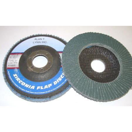 4 1/2 x 7/8 Zirconia Flap Wheels 80 Grit 10 PK - ATL Welding Supply