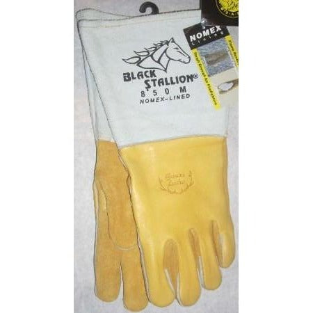 Black Stallion 850M Elkskin Welding Gloves Size Medium - ATL Welding Supply