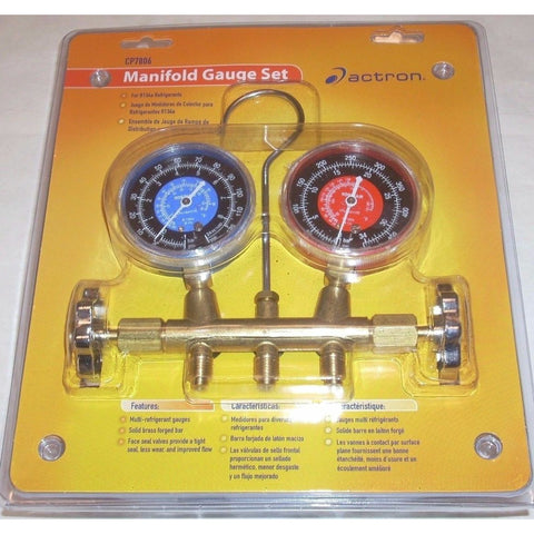 Actron CP7806 Air Conditioning Manifold Gauge Set for R134A Refrigerants