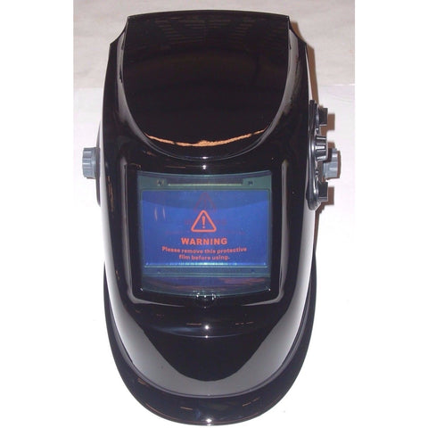 Large View Auto Darkening Welding Helmet Adj Shade Delay & Sensitivity Black - ATL Welding Supply