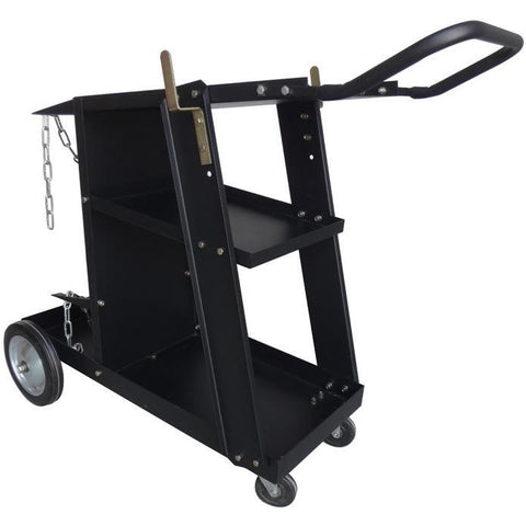 Deluxe Steel V3 Mig Welding Cart for Mig Tig Plasma Machine Fits Welder & Tank - ATL Welding Supply