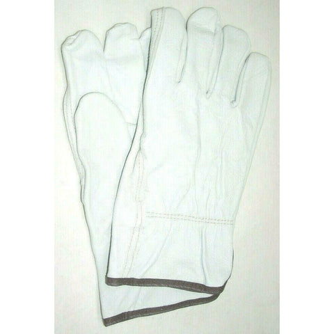 Goatskin Leather Grey Driving Gloves Size Large