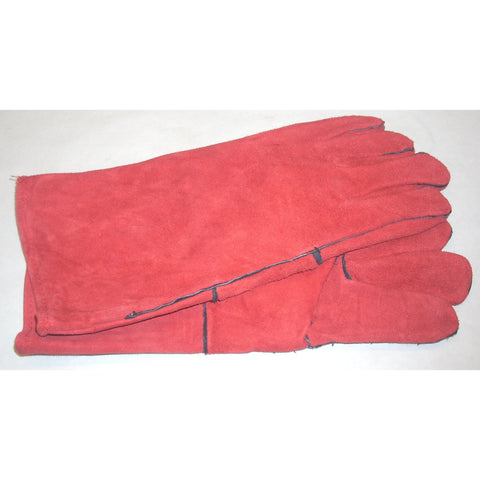 "Red Split Shoulder Leather Welding Gloves 14"" Size Large"