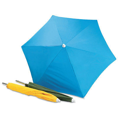 Wilson 36684 Welding Umbrella Blue Canvas 6' Diameter Fire Resistant - ATL Welding Supply