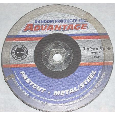 Advantage 7 x 1/8 x 5/8 5pk Metal Cut Off Wheels - ATL Welding Supply