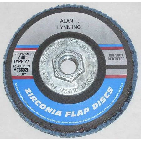 4 1/2 x 5/8-11 Zirconia Flap Wheels 40 Grit 10 Pack - ATL Welding Supply
