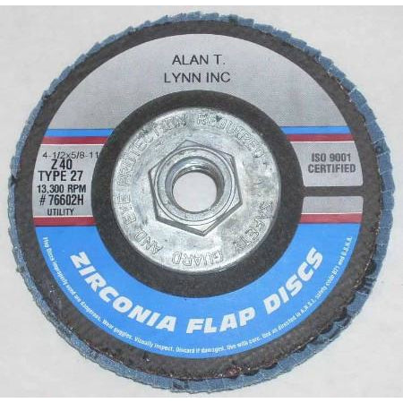 4 1/2 x 5/8-11 Zirconia Flap Wheels 40 Grit Each - ATL Welding Supply