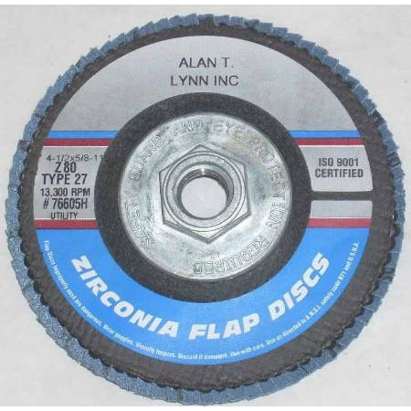 4 1/2 x 5/8-11 Zirconia Flap Wheel 80 Grit Each - ATL Welding Supply