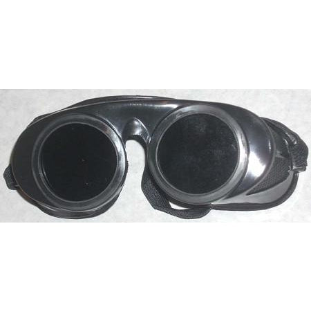 Black Round Fixed Front Goggles