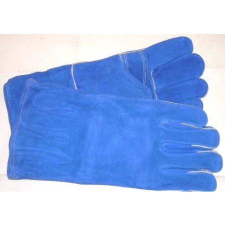 Blue Premium Leather Welding Gloves