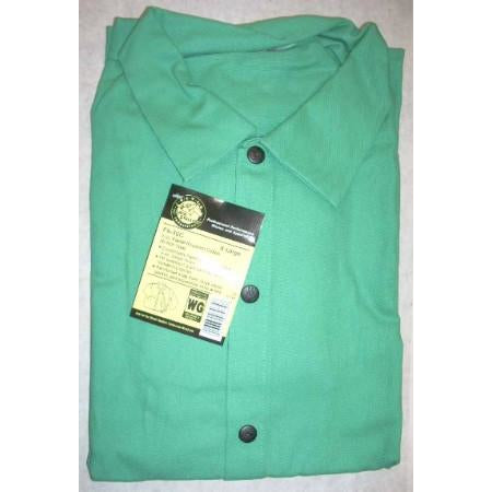 "Black Stallion F9-30C Green Fire Resistant Jacket 30"" XL - ATL Welding Supply"