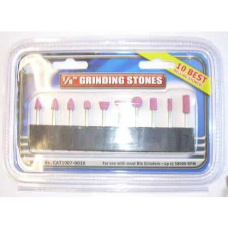 "Clarke Air 1/8"" Shank 10pc Grinding Stone Set"